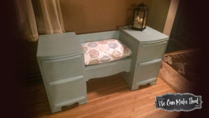vanity redo | completed vintage vanity makeover home entry way