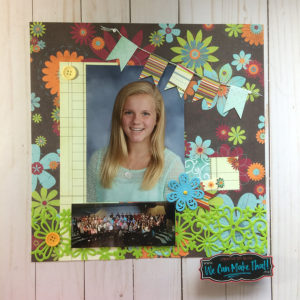 School Picture Scrapbook page