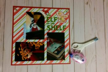 Elf on the Shelf Scrapbook Page