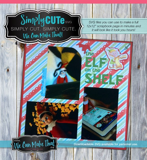 Free SVG Elf on the Shelf Simply CUTe page