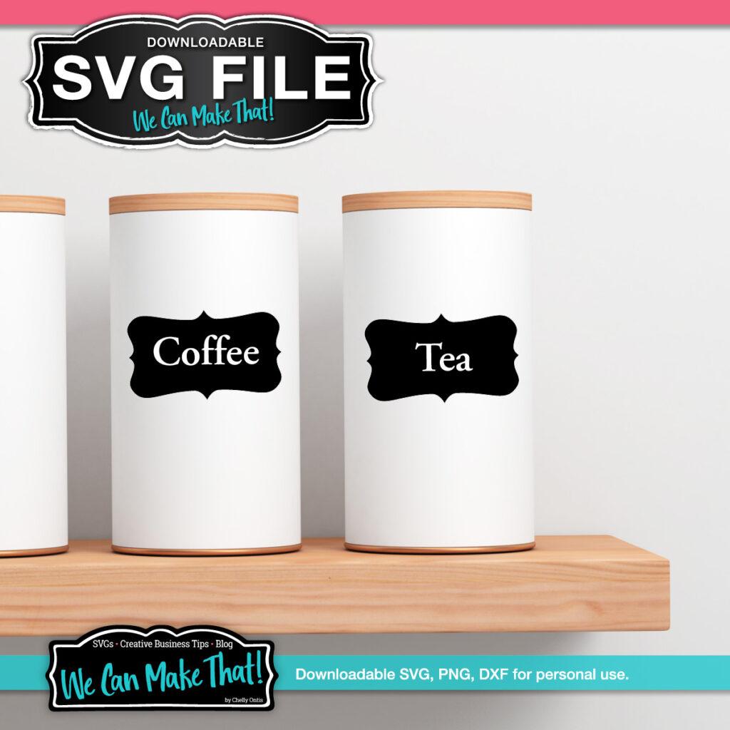 Free SVG label