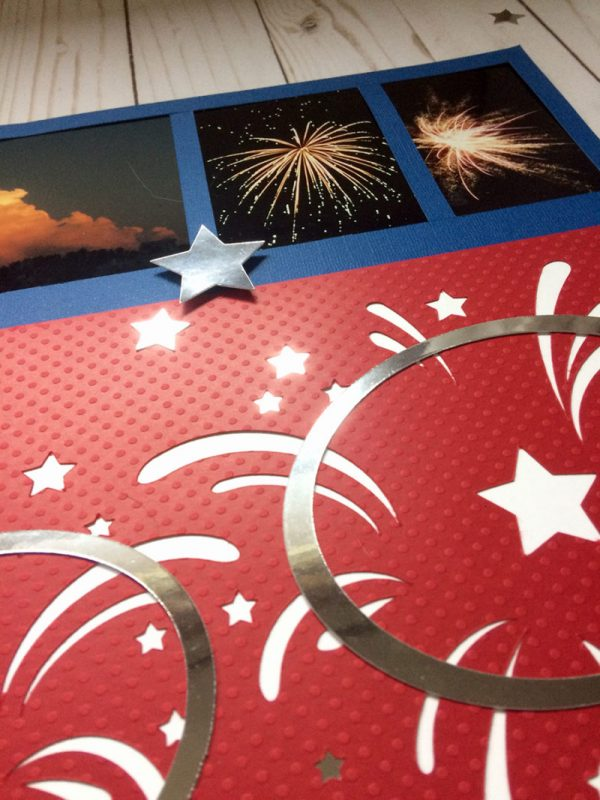 4th July Scrapbook page 2 close up