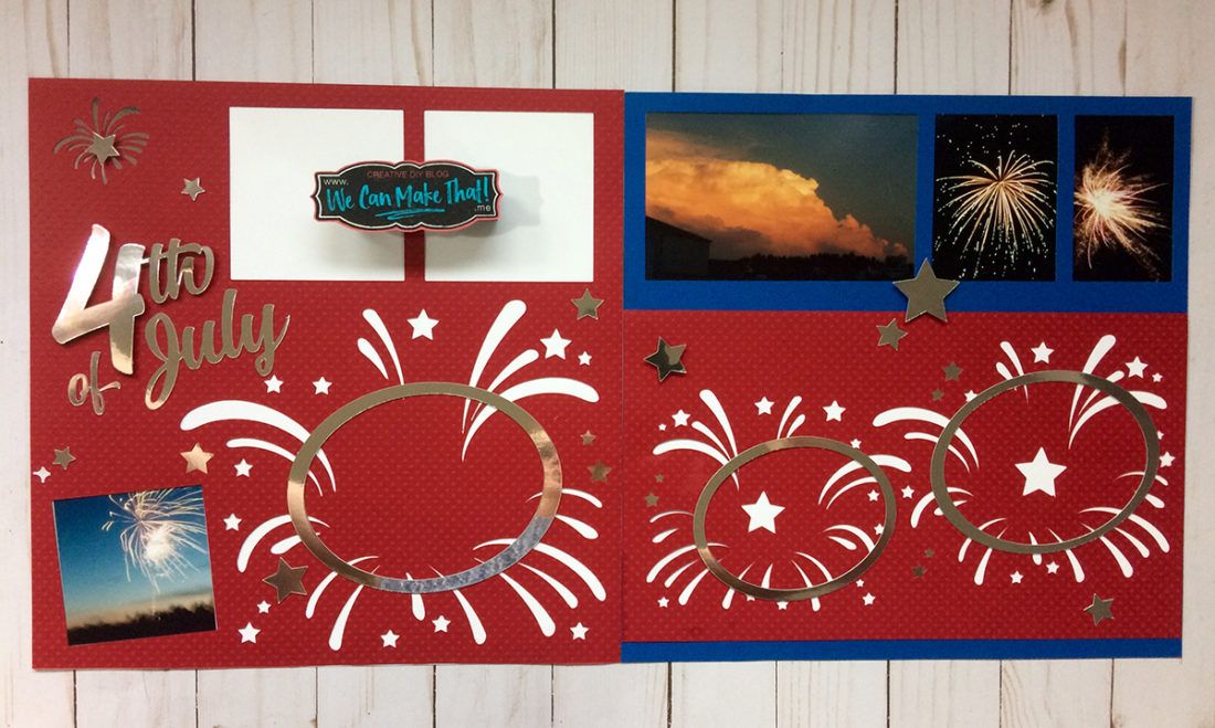 4th of July Scrapbook page