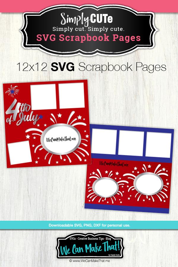 Firework Scrapbook Page SVG