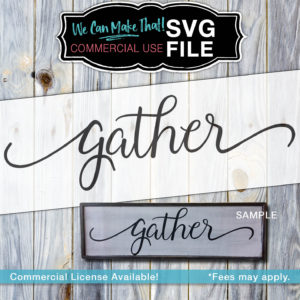 Commercial License SVG Gather