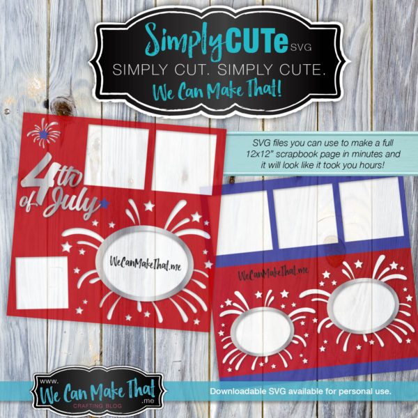 SVG 4th of July Fireworks page