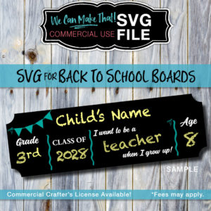 License SVG Back to School Image