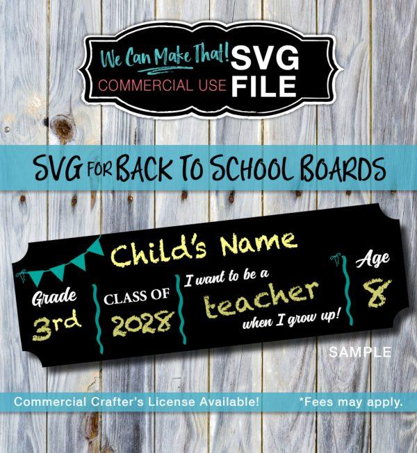 License SVG Back to School Image