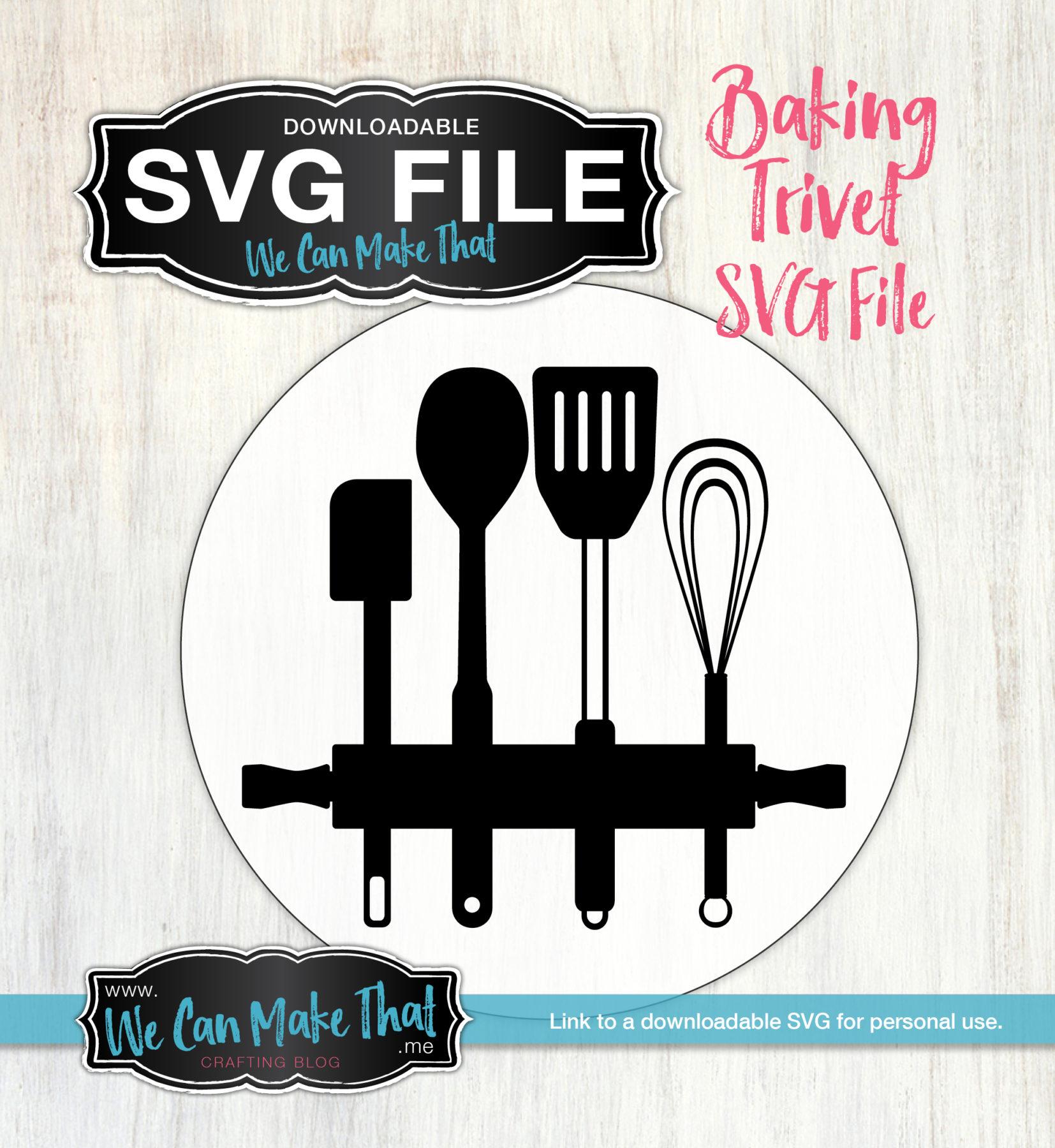 Baking Trivet Svg