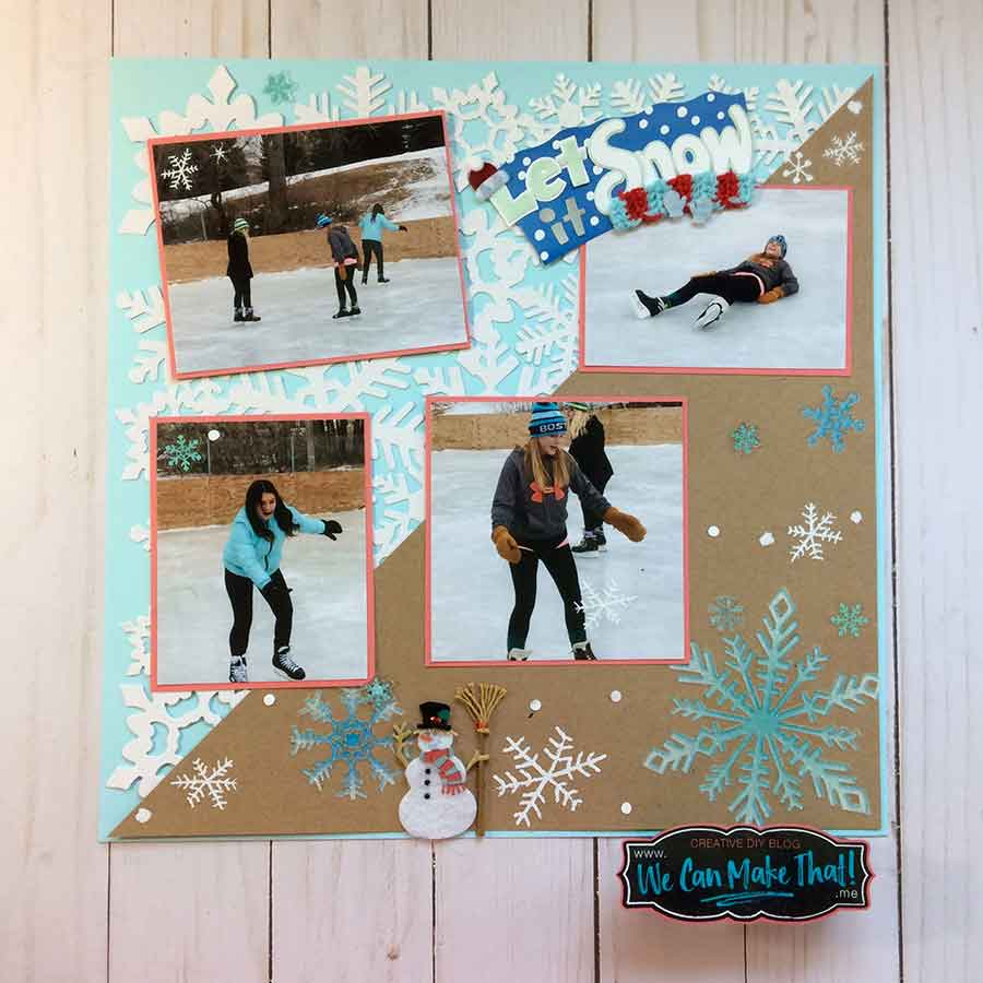 Ice Skating Scrapbook page