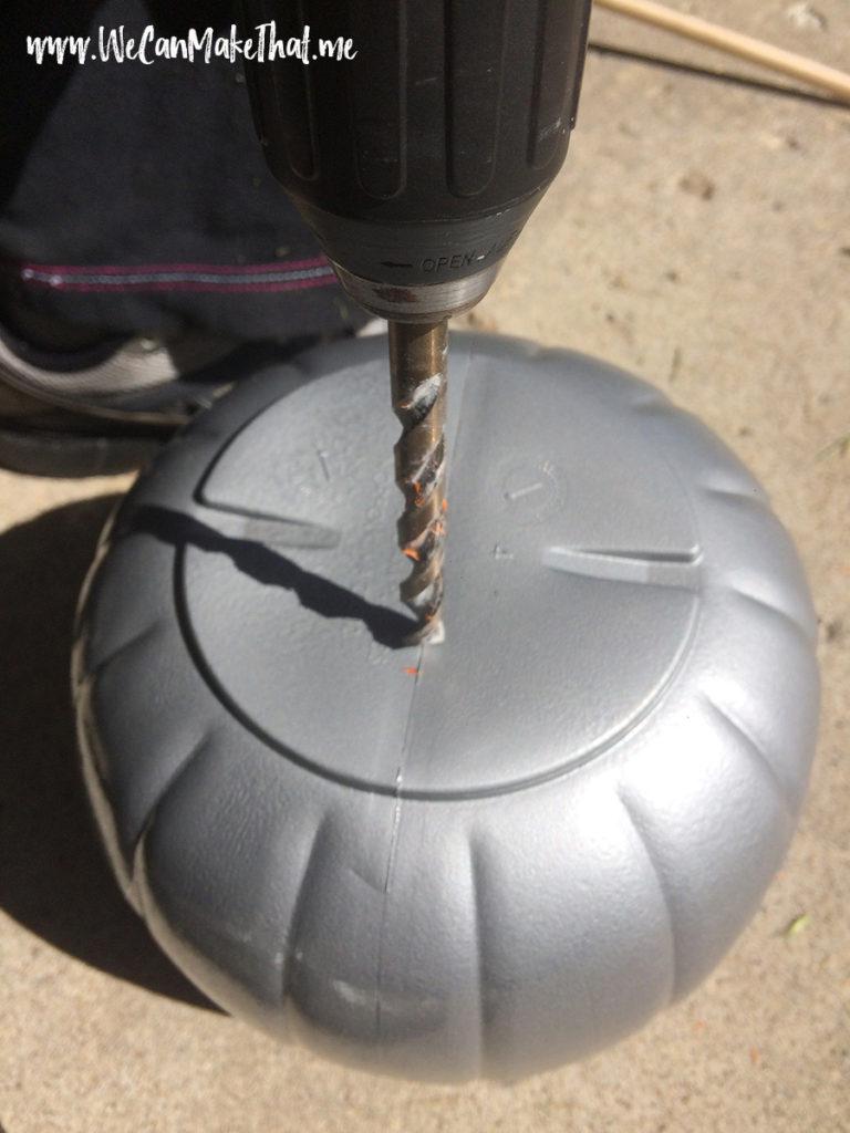 Drilling pumpkin buckets