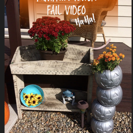 DIY Pumpkin Tower Fail | Pinterest Fail