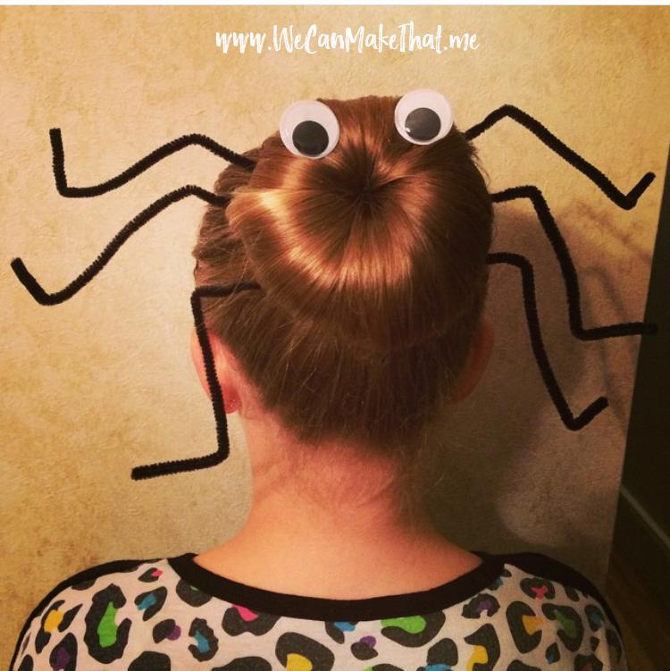 spider hair bun | halloween hair