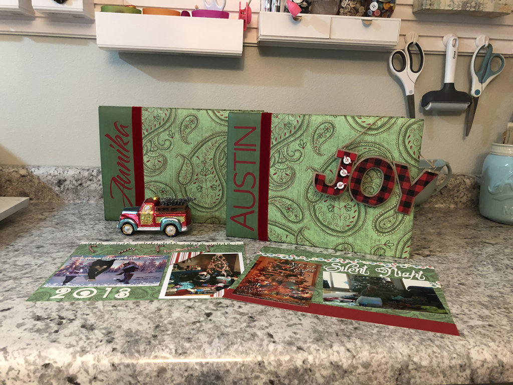 Christmas Card Scrapbook Ideas
