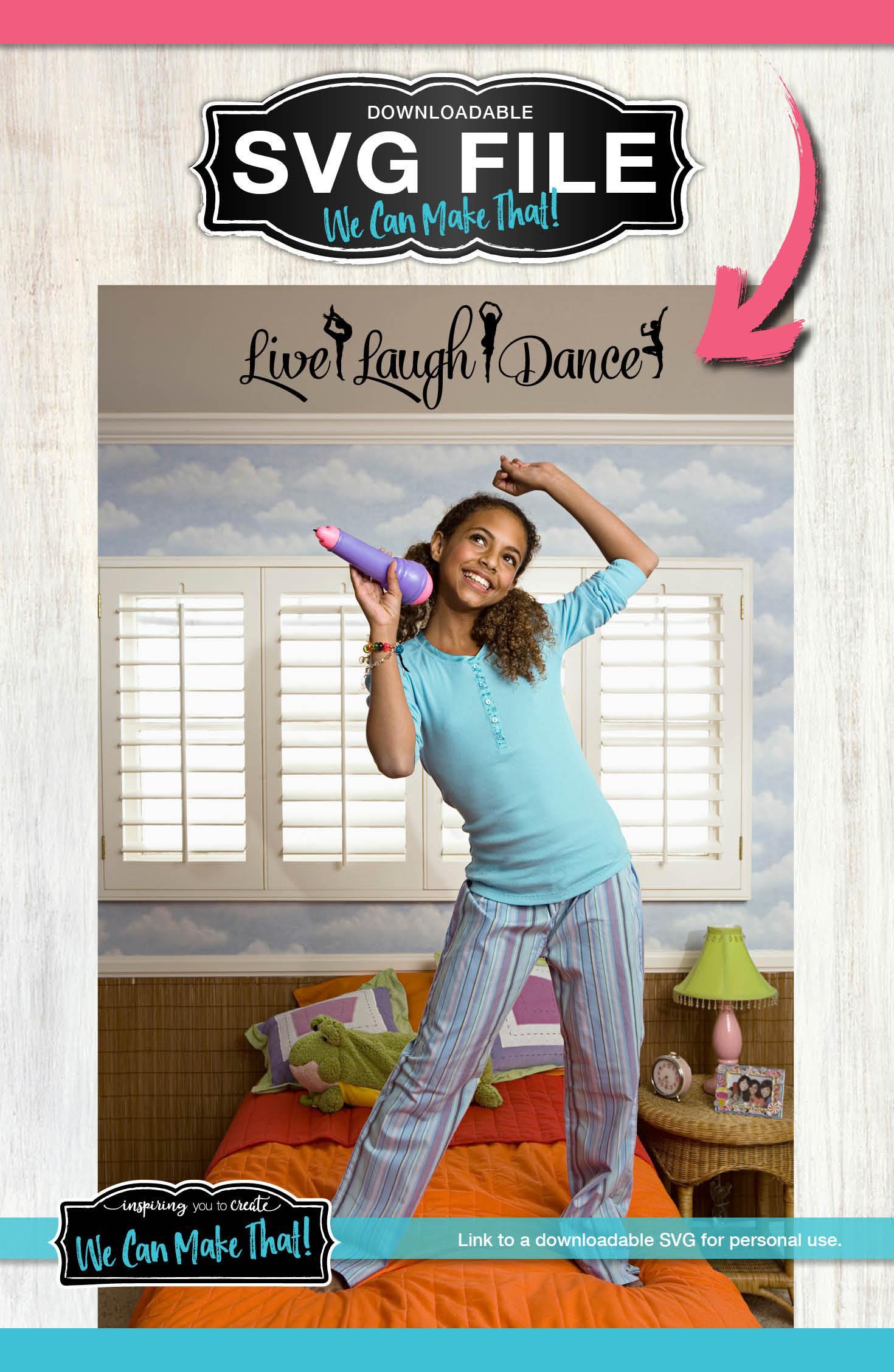 Download Live Laugh Dance, Teenage girl room decor