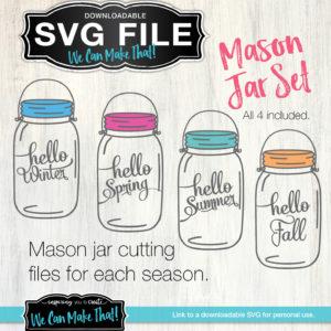 Mason Jar Seasons SVG files