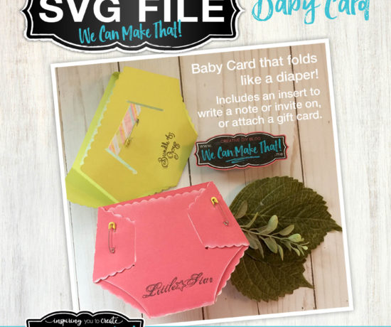 diaper baby card SVG