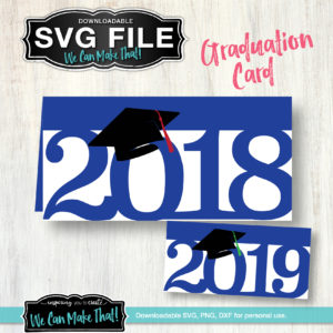 SVG Graduation Card 2018