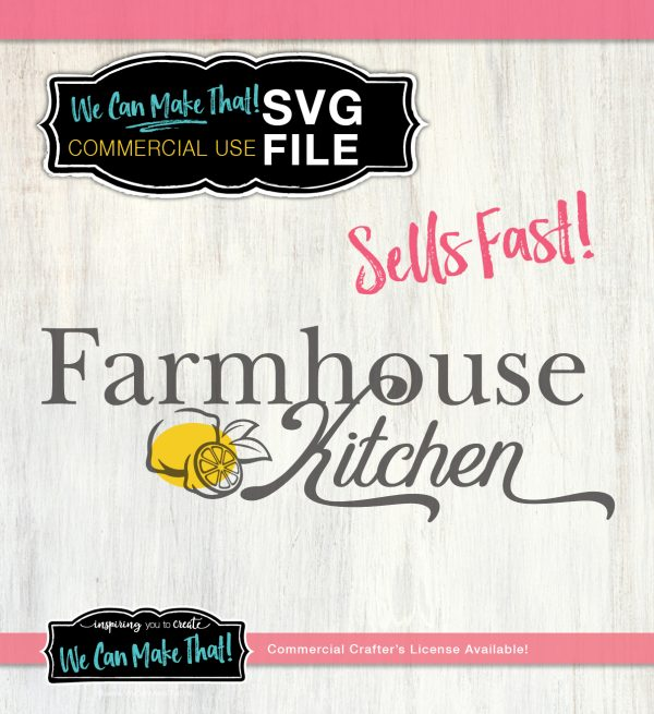 Lemon Farmhouse SVG Commercial use