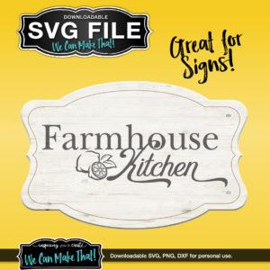 Farmhouse Kitchen with lemons SVG
