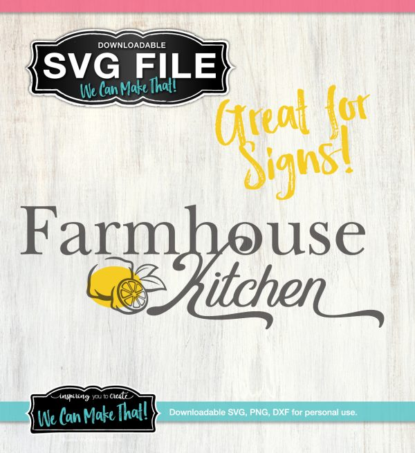 Farmhouse Kitchen with lemons SVG