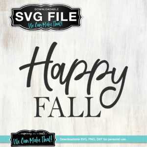 Happy Fall Free SVG