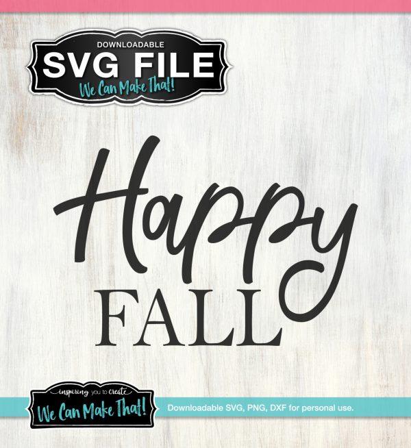 Happy Fall Free SVG