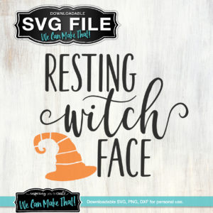 Resting Witch Face SVG