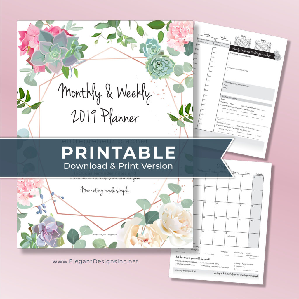 Downloadable Planner for Creatives