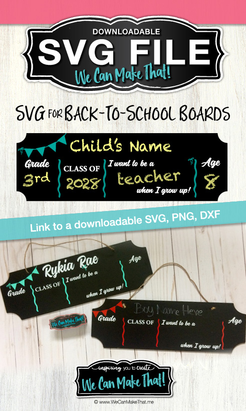 Back to school boards SVG WCMT Pinterest