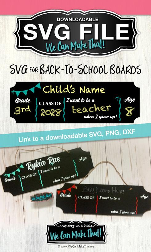 Back to school boards SVG WCMT Pinterest