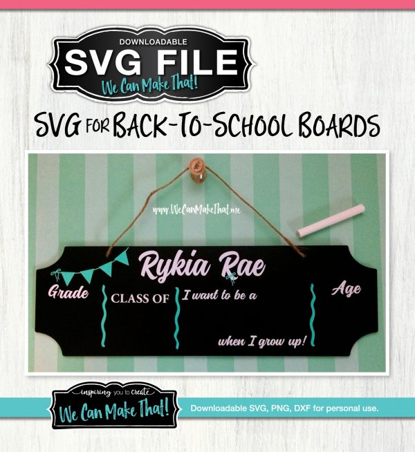 Back to school boards SVG File