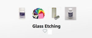 Glass Etching Supplies on Amazon