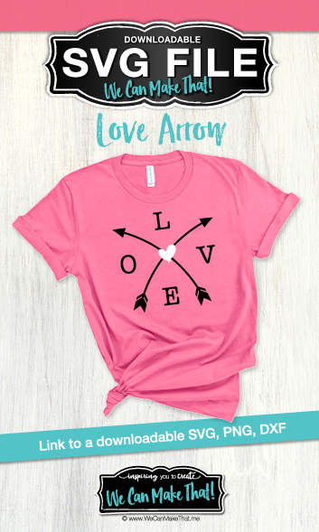 Love arrow SVG