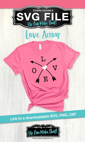 Love arrow SVG