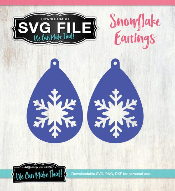 Snowflake Earrings SVG