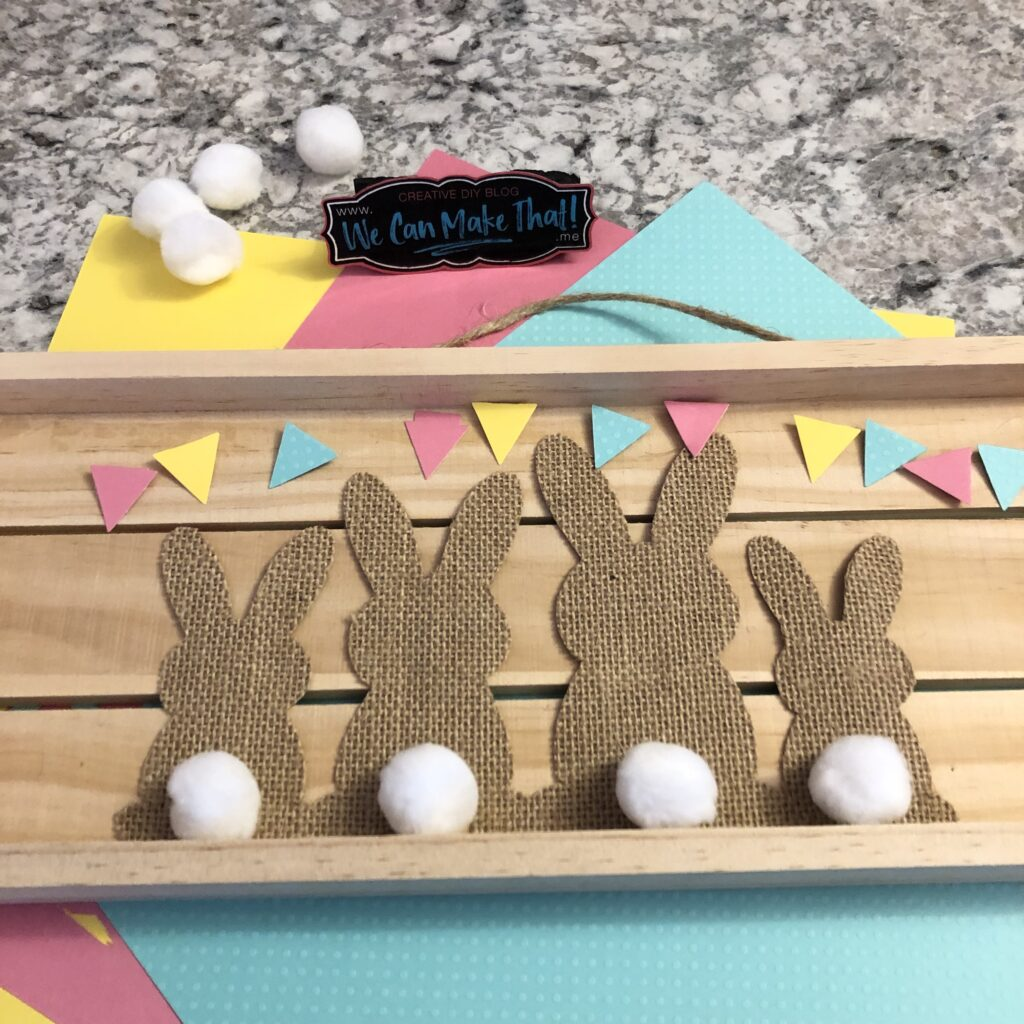 Cricut Easter Bunny Burlap project