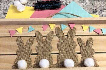 Cricut Easter Bunny Burlap project