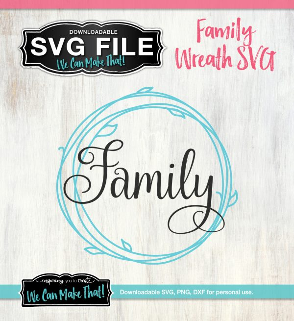 Family Wreath SVG