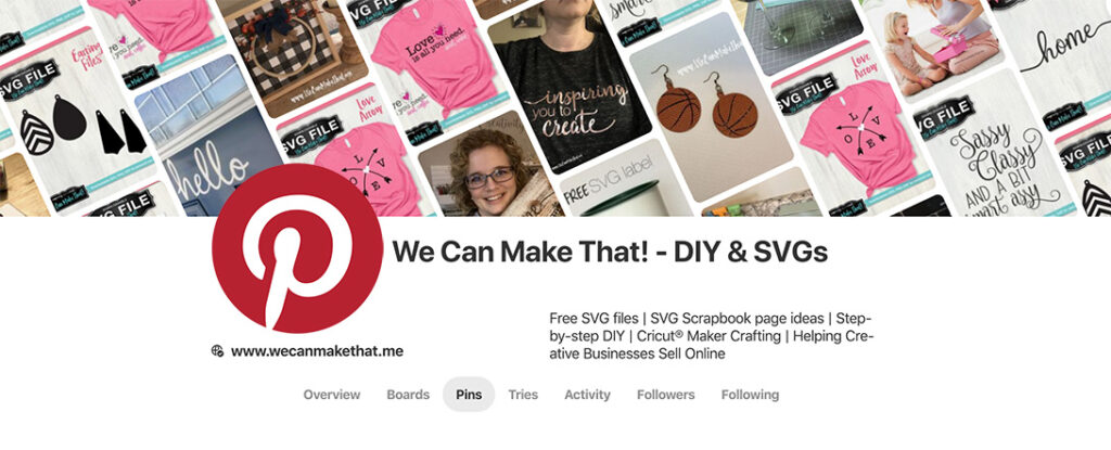 Pinterest account to tag to Win an SVG Subscription Membership