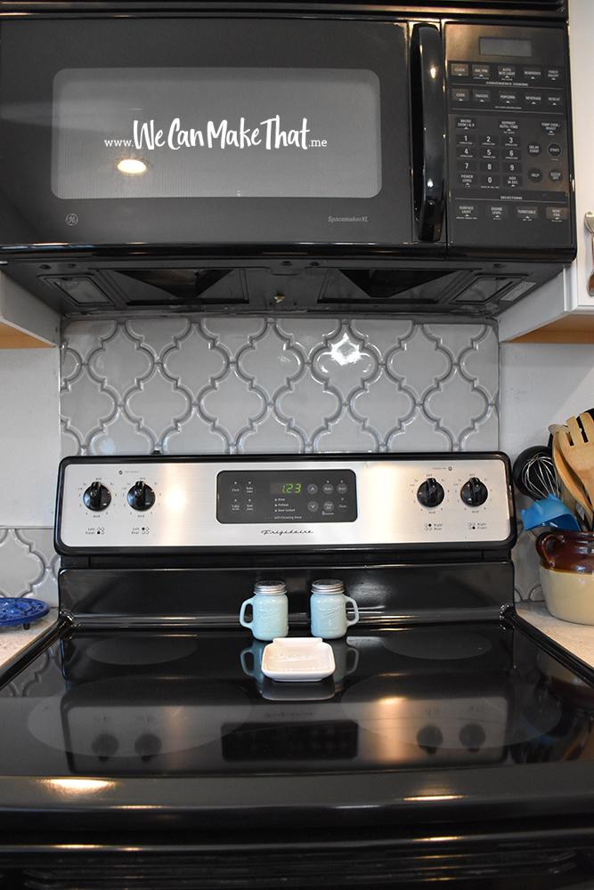 Backsplash by the stove