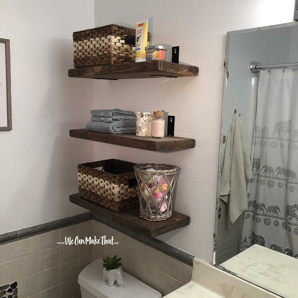 DIY Floating Shelves after