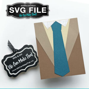Dad Shirt and tie SVG card