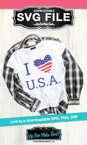 I heart USA svg