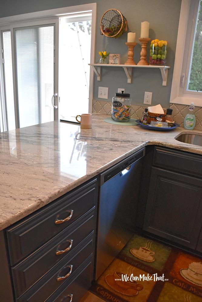 Kitchen Blue cabinets view