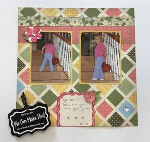 Quilted Look Scrapbook page idea