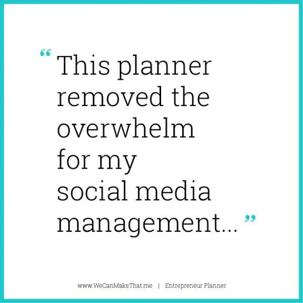 Entrepreneur Planner quote