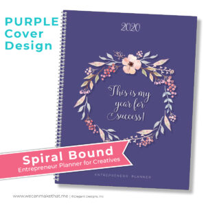 Entrepreur Planner Purple Cover