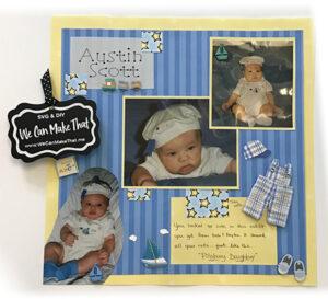 Baby Scrapbook page idea