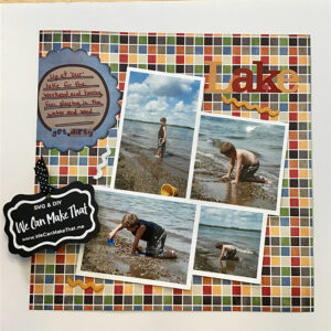 Lake Scrapbook page idea